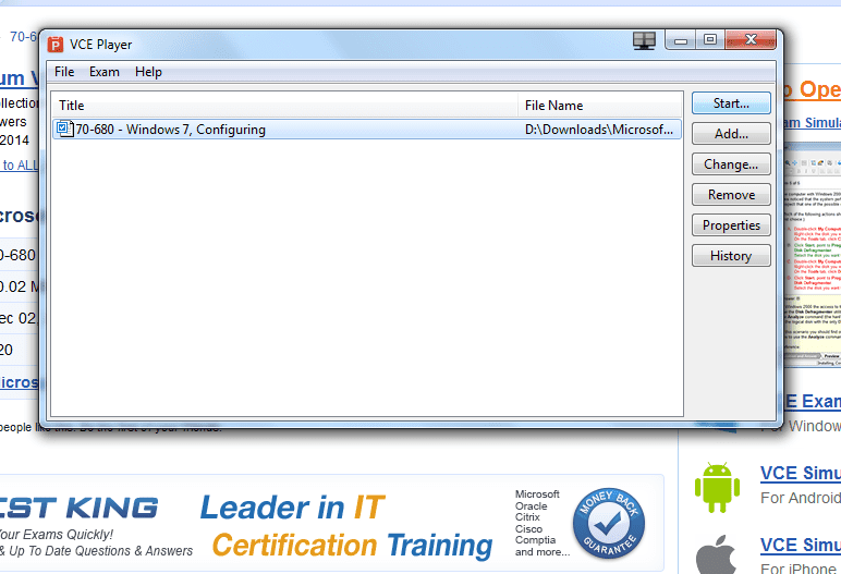Download vce files